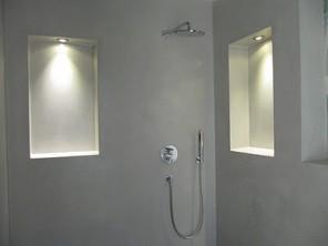 Beton ciré badkamer vloer en keuken u stucadoorsbedrijf den haag