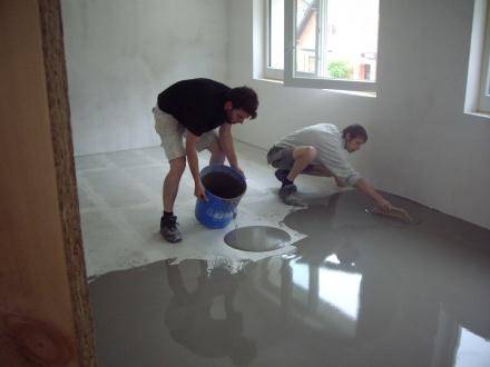 Marmoleum Vloer Verven : Egaliseren vloeren stucadoorsbedrijf m boxhoorn