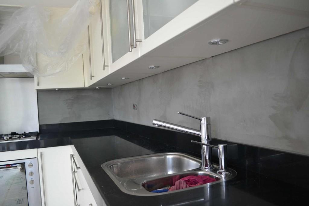 Beton Cire Keuken : Beton cire achterwand keuken zoetermeer stucadoorsbedrijf m